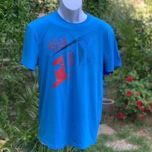 FOX TECH TRUDRI Standard Fit Blue Shirt Sz M